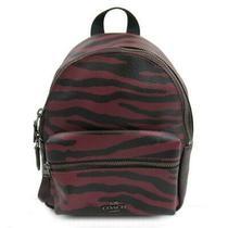 Coach Rucksack Backpack F37880 Leather Red Black Photo
