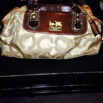 Coach Sabrina Op Art Satchel Brown  Photo