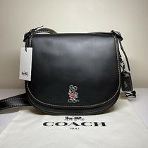 Coach Saddle 23 Bag Purse Mickey Mouse X Disney Photo