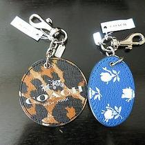 Coach Safiano Leather Reversible Dog Leash Clip Purse or Key Ring Enhancer Photo