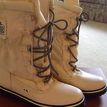 Coach Sage Chalk Color Nylon Cold Weather Snow Boot Size 8m Nib Photo