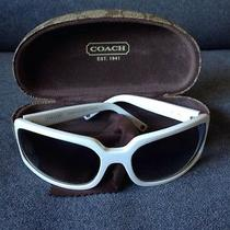 Coach Samantha White Swarovski Stem Crystal Womens Retro Sunglasses Case S425 Photo