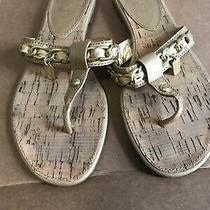 Coach Sandals 7.5 Beige Flip Flop Shoes Photo