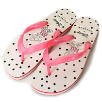 Coach Sandals Disney Minnie Mouse Collaboration Polka Dot Beach White Pink 7b Photo