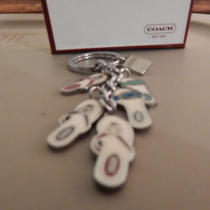 Coach Sandals Key Ring Key Chain With 6 Hangers - New in Box Photo