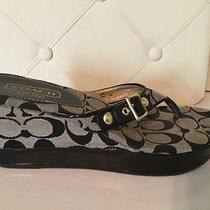 Coach Sandals W/heel Like  New Size 8  Photo
