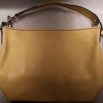 Coach Sarah Leather Laptop Purse Bag & Charm Yellow F13094 Msrp 395 Photo