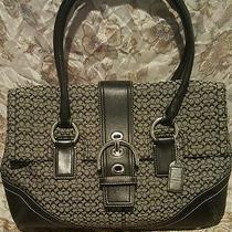 Coach Satchel Black and Gray Photo