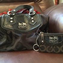 Coach Satchel Handbag and Matching Key Chain Wallet Photo