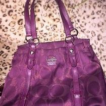 Coach Satchel Purse Bag (Purple) Photo