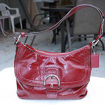 Coach Satchel/purse Deep Red Patent Leather  Photo