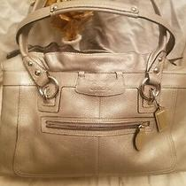 Coach Satchel Shoulder Bag Gray  Leather Handbag Purse Tote  Photo