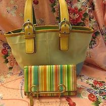 Coach Satchel With Fossil Multi Colored Wallet Photo