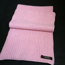 Coach Scarf 100% Cashmere Muffler Thermal Limited Edition New Blush Pink Wrap  Photo