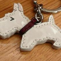 Coach Scottie Dog Patent Leather Key Chain Fob Ring 92324 New Photo