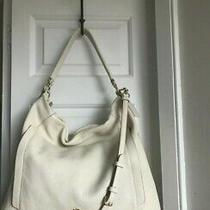 Coach Scout 34311 Cream Pebbled Leather Large Convertible Hobo Shoulder Bag Euc Photo