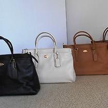 Coach Selection Pebble Leather Morgan Satchel Handbag 35185 Tote Retail 450tax Photo