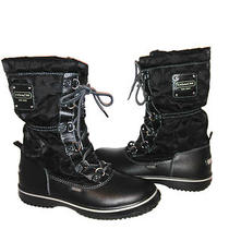 Coach Shaine Boots Black Sz 7 Brand New  Photo