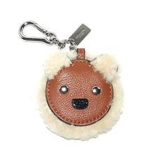 Coach Shearling Leather Bear Motif Key Ring Chain Handbag Fob 64749 50 Photo