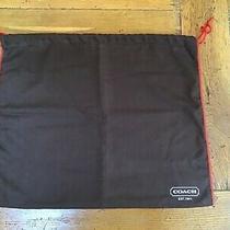 Coach Shoe Purse Clutch Wallet Dust Storage Bag 16 X 13 Drawstring Top Nwot Photo