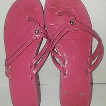 Coach Shoes Hot Pink Signature Flip Flop Sandals Thongs Pink Women Strappy Beach Photo