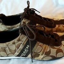 Coach Shoes Remonna Athletic Shoes / Sneakers 9.5m Ecu  Brown Khaki Photo