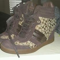 Coach Shoes Women Wedges Size 8 Photo