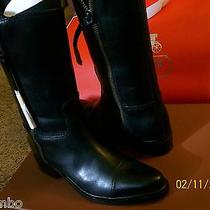 Coach Short Double Zip Western Leather Boot 9m Q6551/a7813 Black- Nwb Photo