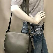 Coach Shoulder Bag  20115 Saddle Bag  Glove Tanned Leather Cowhide Gray Photo