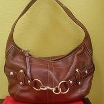 Coach Shoulder Bag Brown Leather Womens  Photo