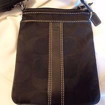 Coach Shoulder  Bag.   Small.  Black L05n-4680 Photo