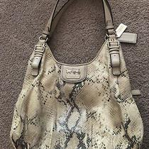 Coach Shoulder Bag With Faux Snake Print Photo