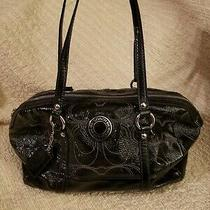 Coach Shoulder Midnight Black Purse Bag F19561 Genuine Coach Photo