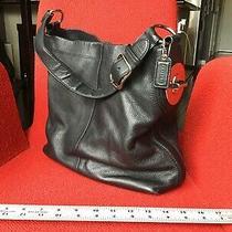 Coach Shoulder Penelope Adjustable Pebble Leather F16535 Hobo Bag Black Photo