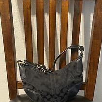 Coach Shoulder/purse Small Black Fabric Adorable Cleaned  Photo