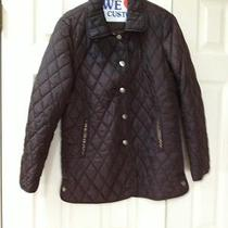 Coach Signature Barn Quited Brown Jacket Sz  Xs Excellent Condition Photo