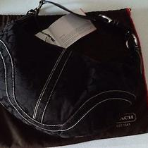 Coach Signature Black Hobo Handbag Purse W/ Cover Tag Gift Re Gift to You Photo