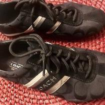 Coach Signature Black Jayme Size 6 Womens Running Walking Fashion Shoe Sneaker Photo