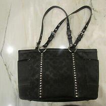 Coach  Signature Black Tote Bag/purse F12853 Excellent Condition Photo
