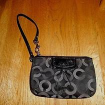 Coach Signature Black Wristlet Photo
