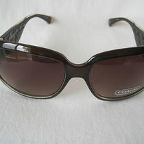 Coach Signature Brown Bronze Glitter Logo Sunglasses Christiana S618  New Photo