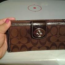 Coach Signature Brown Large Wallet Photo