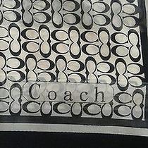 Coach Signature C  Black and White Silk 38