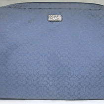 Coach Signature C Blue Laptop Bag Case Holder - Preowned Photo