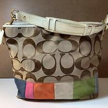 Coach Signature C Canvas Tote Handbag Purse A0768-10858 Lightly Used Photo