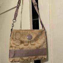 Coach Signature C Lilac Purple Medium Crossbody Purse Handbag Photo