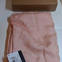 Coach Signature C Logo Wrap Scarf Wool Silk Blend Blush Pink 66