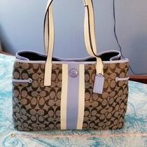 Coach Signature c's Large Tote Blue & Gray  Photo