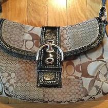 Coach Signature C Satchel Brown Black Jacquard Shoulder Bag Purse F12316 Photo