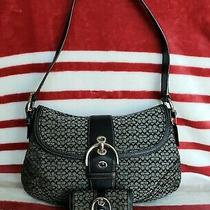 Coach Signature Canvas Soho Shoulder Bag With Matching Wallet Photo